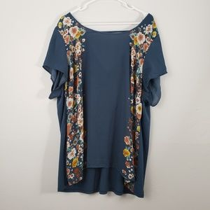 Torrid Plus Size Scoop Neck Floral Blouse